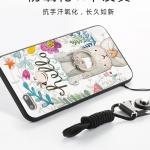 (025-795)เคสมือถือ Case Huawei Y6 pro 2017 เคสนิ่มซิลิโคนลายน่ารักพร้อมแหวนมือถือและสายคล้องคอถอดแยกได้