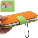 Case Flip Leather Samsung Galaxy S 3 III (Orange)