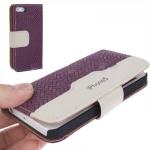 Case เคส Straw Mat iPhone 5 (Dark Durple)