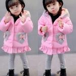 เสื้อกันหนาวสีชมพู สำหรับอายุ 1-4 ปีค่ะ