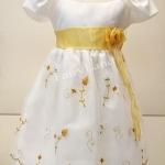 ชุดเสื้อผ้าเด็กหญิงผ้าไหมแก้วแบบใหม่ใส่ออกงาน LL463