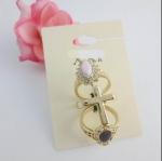 FOREVER21 3in1 Vintage Flower Cross Knuckle Set Ring แหวนชุดวินเทจ 3 วง