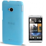 Case เคส Pure Color Frosted HTC One M7 (Baby Blue)
