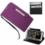 Case เคส Pure Color แบบพลิกแนวนอน ใส่บัตร ได้ Samsung GALAXY S4 IV (i9500) (Dark Purple)