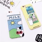 (151-390)เคสมือถือไอโฟน case iphone 6Plus/6S Plus เคสนิ่ิมลายวัวขวดนม