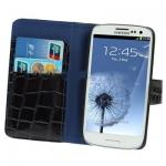 Case เคส Crocodile Samsung Galaxy S 3 III (i9300)(Black)