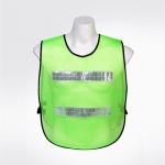 เสื้อสะท้อนแสงแบบสวมหัว ติดแถบสะท้อนแสง 2 แถบ หน้าหลัง สีเขียวสะท้อนแสง รุ่น TV-4 ( Traffic Vest )