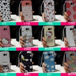 (440-059)เคสมือถือซัมซุง Case Samsung Galaxy S7 เคสนิ่มขอบสีพื้นหลังลายสวยๆน่ารักๆ