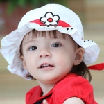 หมวกเด็กผู้หญิงน่ารัก ลายดอกไม้