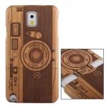 Woodcarving Camera Pattern Myrtus Material Case เคส Samsung Galaxy Note 3 (III) N9000 ซัมซุง กาแล็คซี่ โน๊ต 3 v2
