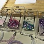 (442-037)เคสมือถือไอโฟน Case iPhone7 Plus/iPhone8 Plus เคสนิ่มใส ตู้น้ำกากเพชรขวดน้ำหอมสะท้อนแสงแฟลชแฟชั่นสไตล์