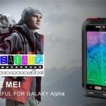 (353-019)เคสมือถือซัมซุง Case Samsung Galaxy Alpha เคสกันน้ำกันกระแทก LoveMei สุดฮิต