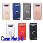 (436-253)เคสมือถือซัมซุง Case Samsung Galaxy Note8 เคสพลาสติกแฟชั่นขอบทองแหวนโลหะตั้งโทรศัพท์ในตัว