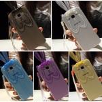 (440-054)เคสมือถือซัมซุง case samsung A7 เคสนิ่มใสกระต่ายหูยาว
