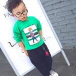 เสื้อสีเขียว + กางเกง สีเขียว น่ารัก สำหรับอายุ 1- 4ปี