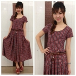 Midi Dress Circle แดง