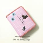 กระเป๋าสตางค์ใบสั้น Only Lovemore สีชมพู ประดับโลหะหมีน่ารัก