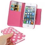 Case เคส Dot Pattern iPhone 5 (Pink)