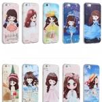 (557-003)เคสมือถือไอโฟน Case iPhone 6/6S เคสนิ่มกันกระแทกวัสดุเกรดA ลายการ์ตูนเด็กผู้หญิงญี่ปุ่น