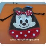 ถุงผ้าหูรูด ลาย มินนี่เมาส์ Minnie Mouse ขนาด 7x8 นิ้ว (ซื้อ 12 ชิ้น ราคาส่งชิ้นละ 100 บาท)