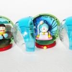 Bandai Doraemon Mini Clear Head Figure Gashapon Set 5