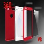 (491-035)เคสมือถือ Case Huawei V8 เคสพลาสติกสไตล์กันกระแทก 360 องศาพร้อมหน้าจอกระจกนิรภัย