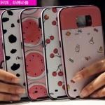 (440-047)เคสมือถือซัมซุง Case Samsung S6 เคสนิ่มขอบสีพื้นหลังลายสวยๆน่ารักๆ