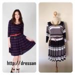 Mini Dress Polo Stripes สีดำขาว