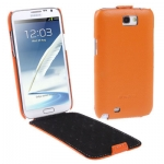 Melkco Luxury Handmade Genuine Leather Case for Samsung Galaxy Note II (N7100) (สีส้ม)