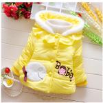 เสื้อกันหนาวสีเหลือง สำหรับอายุ 1-4 ปี น่ารักมากค่ะ