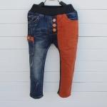 กางเกงยีนส์ขายาว กระดุม ขาและกระเป๋าสีอิฐ แนวเกาหลี เท่ห์สุดๆ size 5, 7, 9, 11, 13
