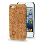 Case เคส Cross Woodcarving Cherry Material iPhone 5
