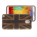 Woodcarving UK Flag Pattern Mahogany Wood Material Case เคส Samsung Galaxy Note 3 (III) / N9000 ซัมซุง กาแล็คซี่ โน๊ต 3