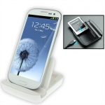 Dual Sync Charger Dock Samsung Galaxy S 3 III (White)