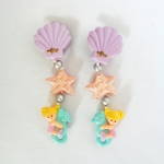 Polly Pocket : Seashell Dangly Earrings