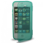 Case เคส Pure Color Horizontal Flip TPU iPhone 5 (Turquoise)