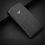 (025-824)เคสมือถือ Case Huawei Honor 8 Lite เคสนิ่มซิลิโคนลายหนังสไตส์เรียบหรู