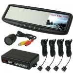 จอLCD 3.5inch แบบกระจกมองหลัง 4 Sensors ระยะ 0.5m-1.8m (Black)