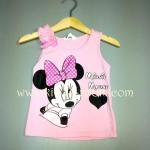 H&M---เสื้อกล้ามสีชมพู ลายมินนี่ เมาส์ Minnie Mouse ใส่สบาย เหมาะกับ summer นี้ค่ะ