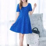 Leo Short Dress สีน้ำเงิน