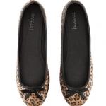 พร้อมส่งไทย - H&M แท้ รองเท้าบัลเลลินา ลายเสือ หนังกลับ ใส่สบาย จาก shop ยุโรป ไซส์ 36 37