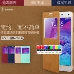 (353-004)เคสมือถือซัมซุงโน๊ต4 Case Note4 ฝาพับ BASEUS