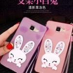 (614-001)เคสมือถือซัมซุง Case Samsung A9 Pro เคสนิ่มใสกระต่ายคริสตัล