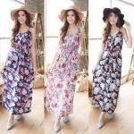 Flower Garden Maxi Dress มี 3 สีค่ะ