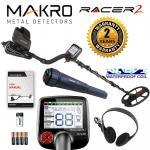 เครื่องค้นหาทอง เหรียญ โลหะ Makro Racer 2 Metal Detector Standard Package with Makro Pointer Pinpointer