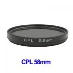 58mm Camera CPL Filter Lens (Black)