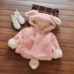 เสื้อกันหนาวสีชมพู หนานุ่ม อุ่นมาก สำหรับเด็กอายุ 3-4 ปี