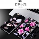 (025-536)เคสมือถือวีโว Vivo Y55/Y55s เคสกรอบเพชรลายดอกไม้สไตส์ผู้หญิงพร้อมสายคล้องโทรศัพท์ วัสดุ silica gel