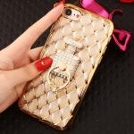 (025-617)เคสมือถือไอโฟน Case iPhone 8 เคสนิ่มลายประดับเพชรพร้อมแหวนเพชรมือถือสวยๆ