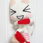 ตุ๊กตาแมว Toro กินซูชิ ของ Namco